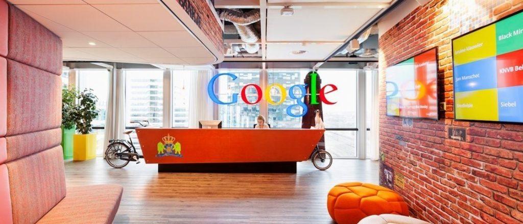 Google kantoor op de Zuidas in Amsterdam