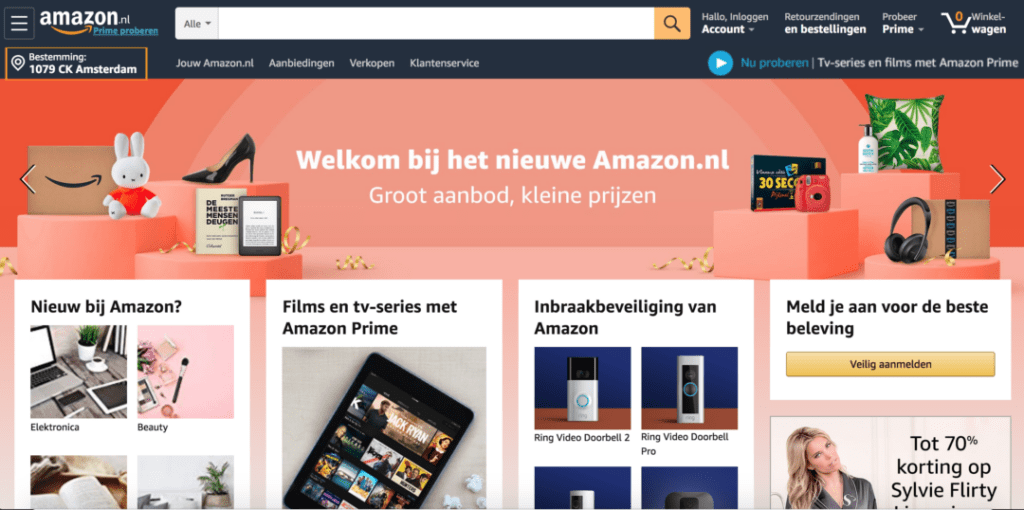 Amazon Screenshot Homepage