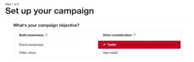 campagne opzetten pinterest